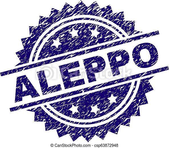 Scratched Textured ALEPPO Stamp Seal - csp63872948