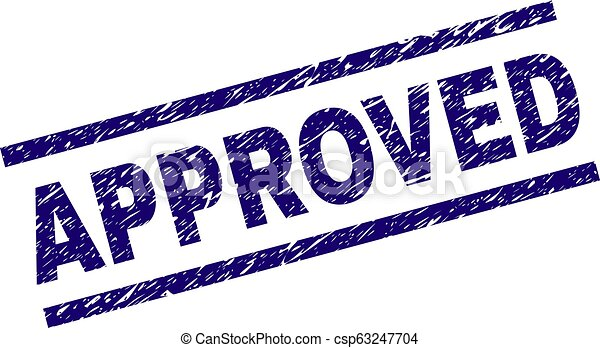 Scratched Textured APPROVED Stamp Seal - csp63247704