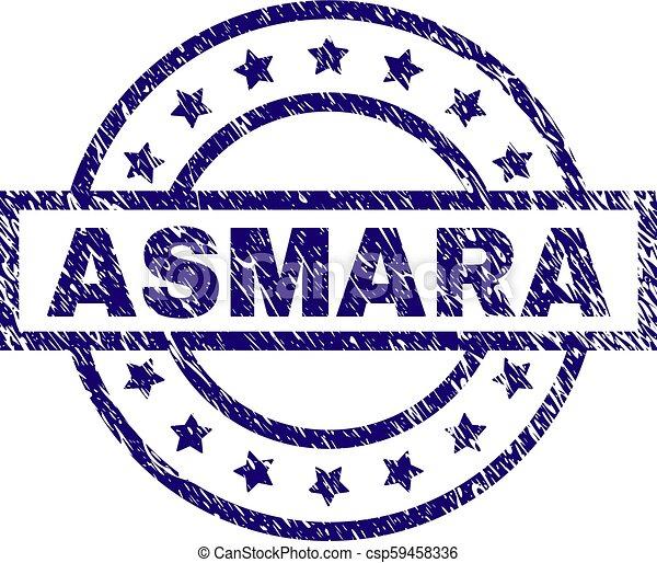 Scratched Textured ASMARA Stamp Seal - csp59458336