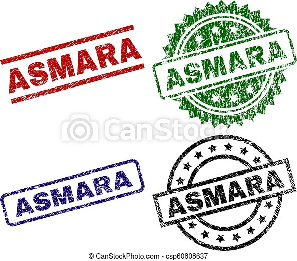 Scratched Textured ASMARA Stamp Seals - csp60808637