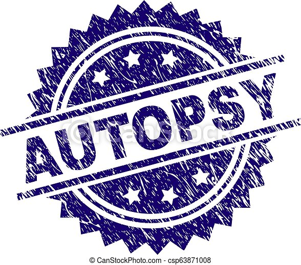 Scratched Textured AUTOPSY Stamp Seal - csp63871008
