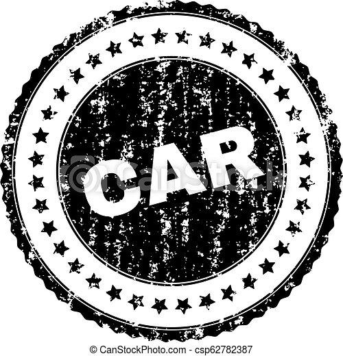 Scratched Textured CAR Stamp Seal - csp62782387