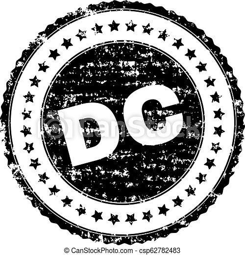 Scratched Textured DC Stamp Seal - csp62782483