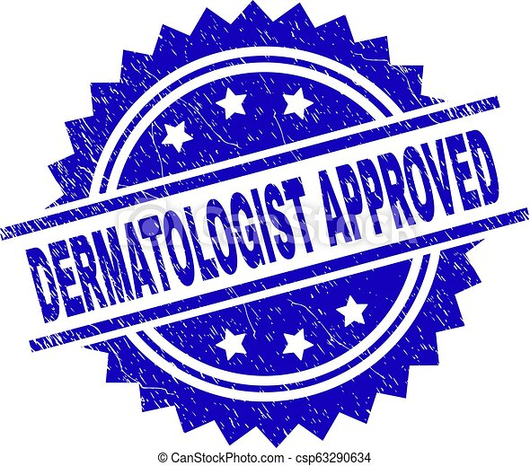 Scratched Textured DERMATOLOGIST APPROVED Stamp Seal - csp63290634