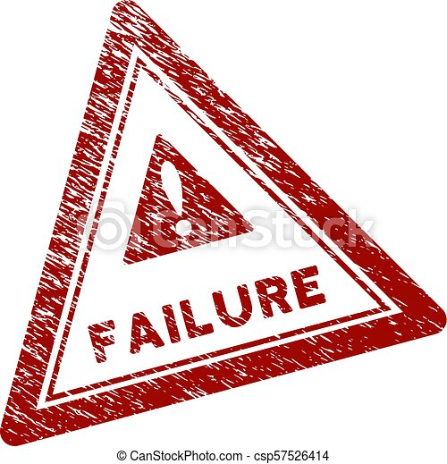 Scratched Textured Failure Triangle Stamp Seal - csp57526414