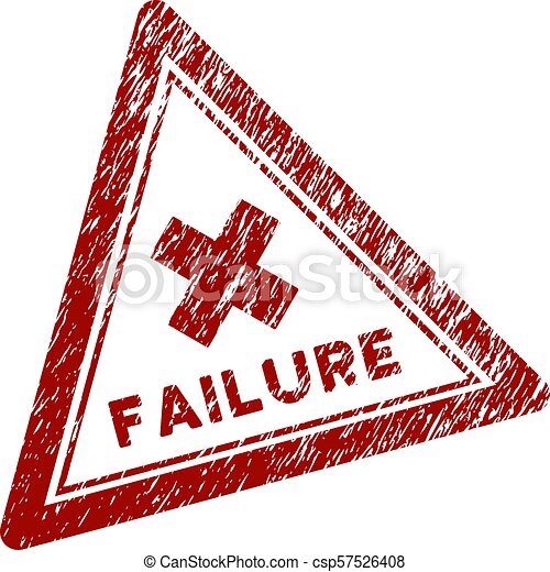 Scratched Textured Failure Triangle Stamp Seal - csp57526408