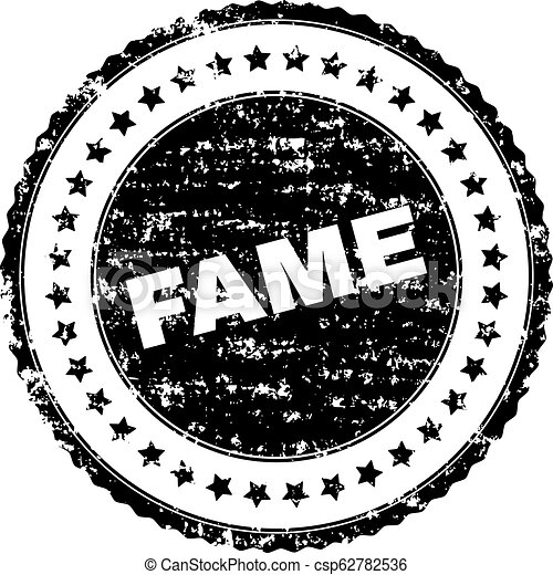 Scratched Textured FAME Stamp Seal - csp62782536