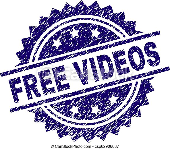 Scratched Textured FREE VIDEOS Stamp Seal - csp62906087