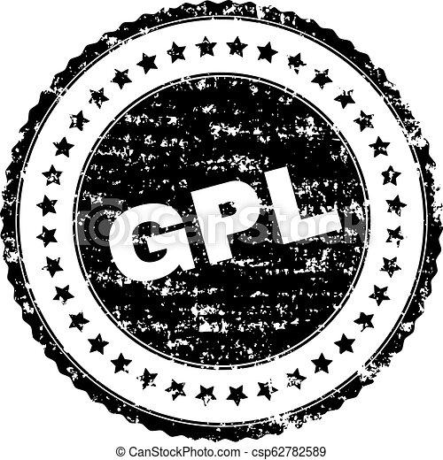 Scratched Textured GPL Stamp Seal - csp62782589