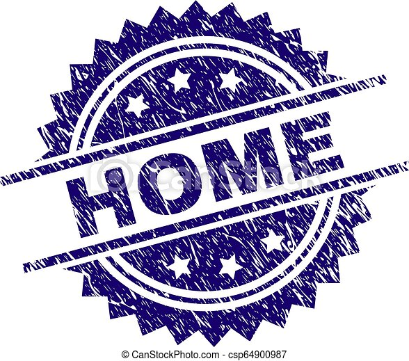 Scratched Textured HOME Stamp Seal - csp64900987