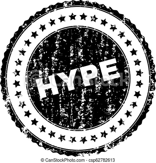 Scratched Textured HYPE Stamp Seal - csp62782613