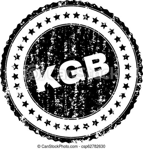 Scratched Textured KGB Stamp Seal - csp62782630