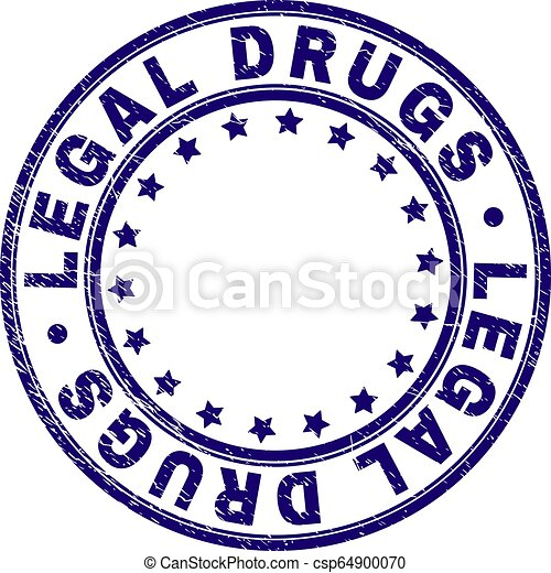 Scratched Textured LEGAL DRUGS Round Stamp Seal - csp64900070