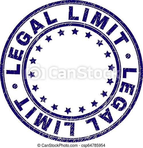 Scratched Textured LEGAL LIMIT Round Stamp Seal - csp64785954