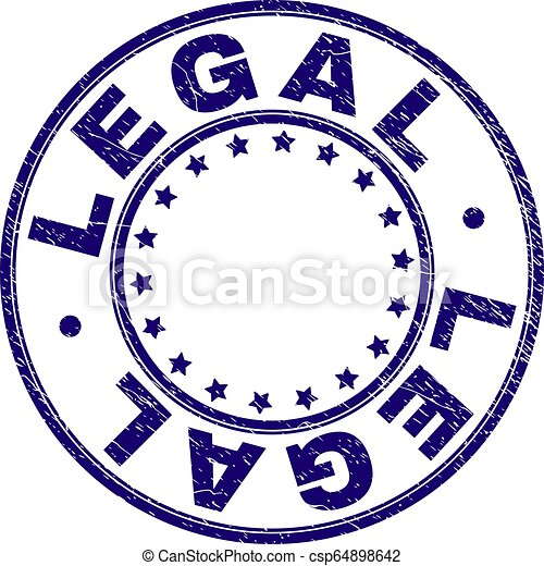 Scratched Textured LEGAL Round Stamp Seal - csp64898642