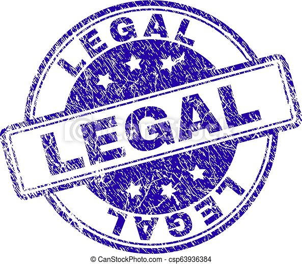 Scratched Textured LEGAL Stamp Seal - csp63936384