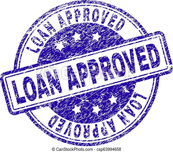 Scratched Textured LOAN APPROVED Stamp Seal - csp63994658