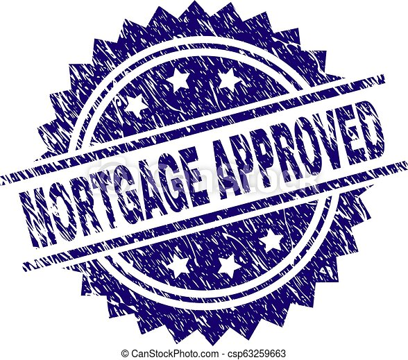 Scratched Textured MORTGAGE APPROVED Stamp Seal - csp63259663