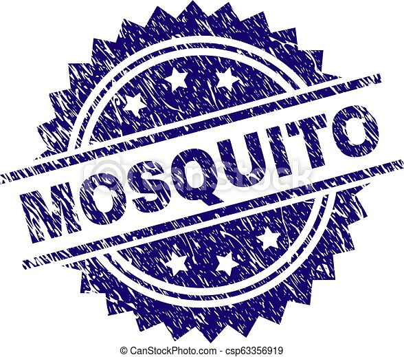 Scratched Textured MOSQUITO Stamp Seal - csp63356919