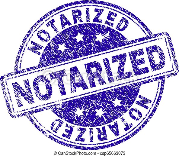 Scratched Textured NOTARIZED Stamp Seal - csp65663073
