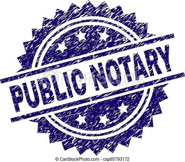Scratched Textured Public Notary Stamp Seal