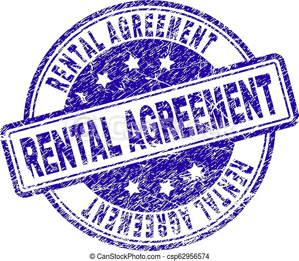 Scratched Textured Rental Agreement Stamp Seal