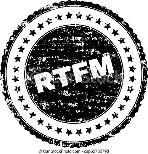Scratched Textured RTFM Stamp Seal - csp62782798