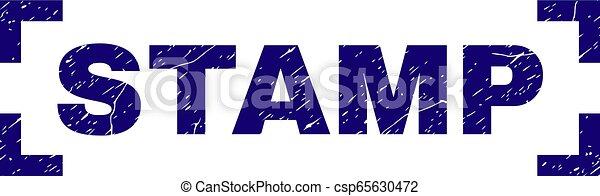 Scratched Textured STAMP Seal Between Corners - csp65630472