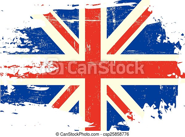 Scratched UK Flag - csp25858776