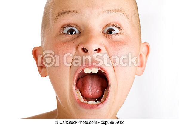 screaming boy a young boy yelling