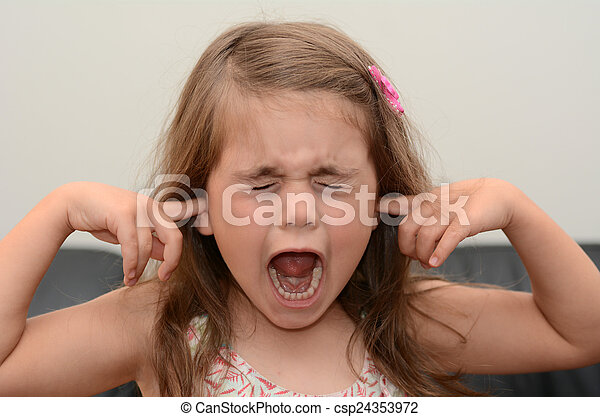 Screaming child - csp24353972