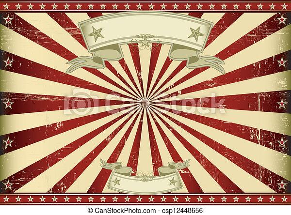 Screen red vintage sunbeams - csp12448656