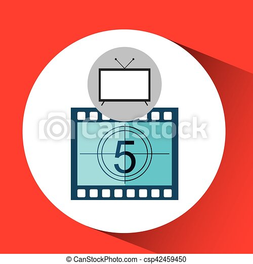 screen tv movie strip countdown film vector illustration eps rh canstockphoto com free movie screen clipart