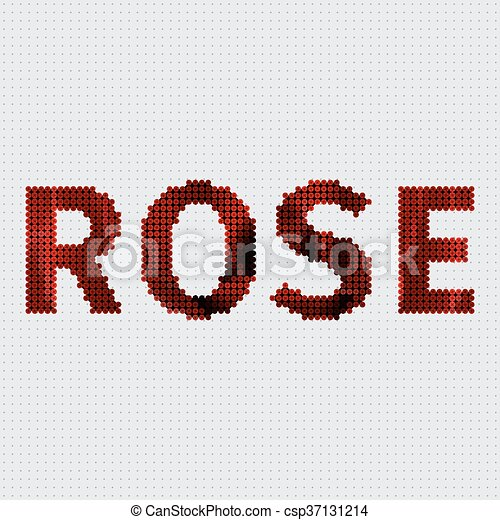 Screw Design Rose Rose Made Of A Plenty Of Screws Vector Clip Art