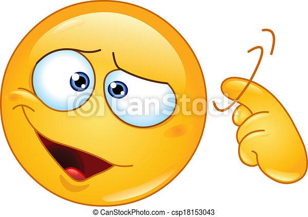 Screw loose emoticon - csp18153043