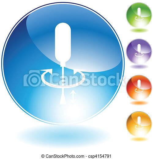 Screwdriver Crystal Icon Set - csp4154791