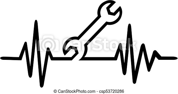 Screwdriver heartbeat line - csp53720286