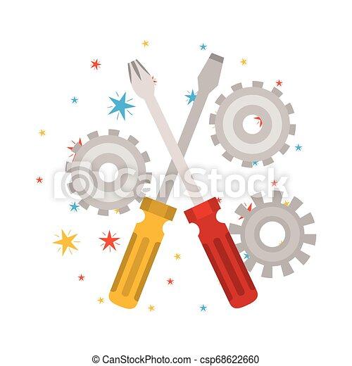 screwdriver tool isolated icon - csp68622660