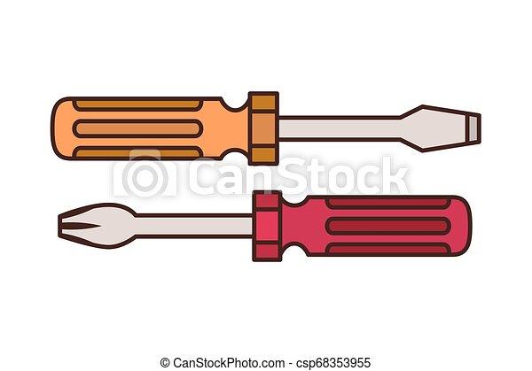 screwdriver tool isolated icon - csp68353955