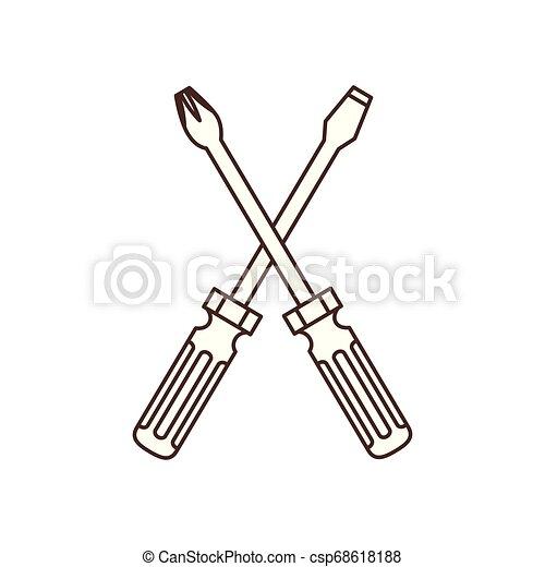 screwdriver tool isolated icon - csp68618188