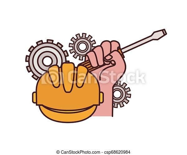 screwdriver tool isolated icon - csp68620984