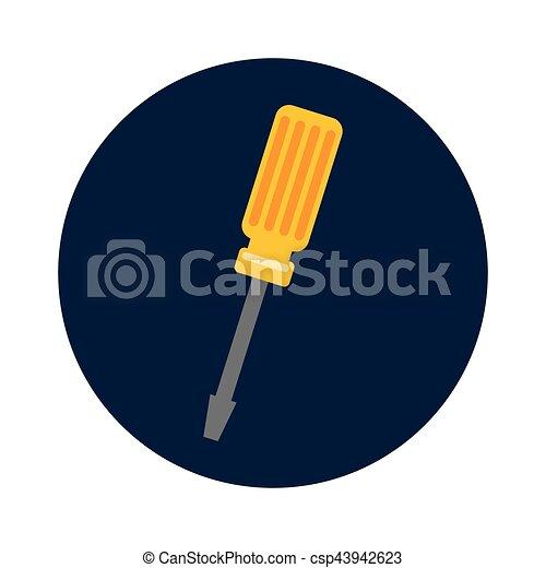 screwdriver tool isolated icon - csp43942623