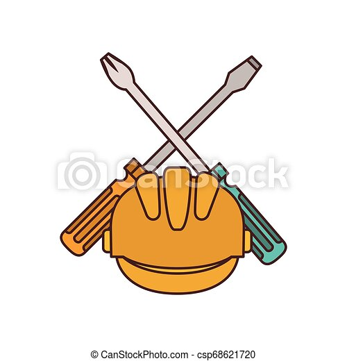 screwdriver tool isolated icon - csp68621720