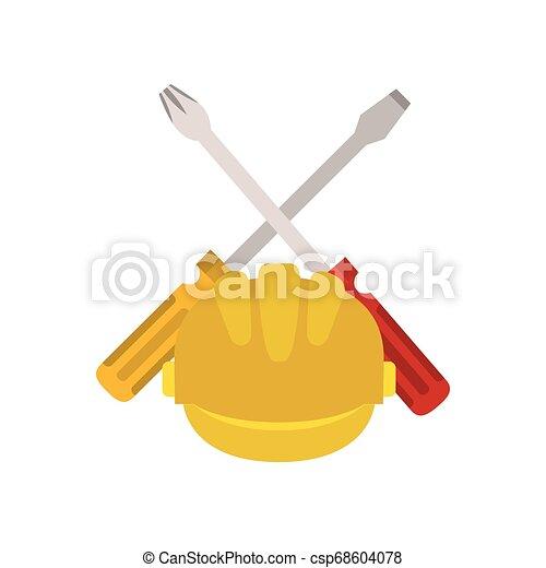screwdriver tool isolated icon - csp68604078