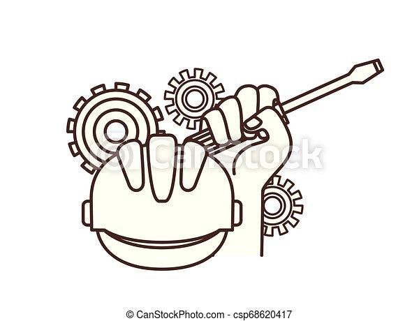 screwdriver tool isolated icon - csp68620417