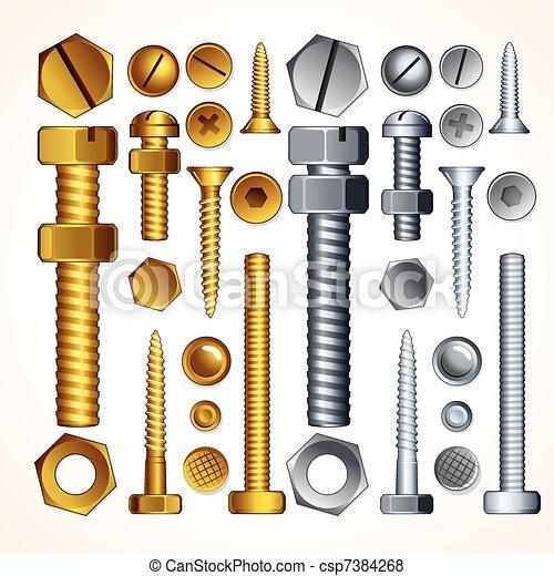 Screws, Bolts and Rivets - csp7384268