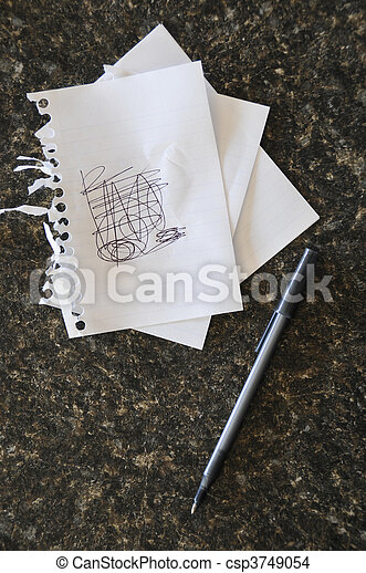 scribble on notes a peice of note paper with scribbles on it