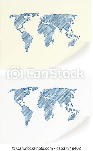 Scribble world map