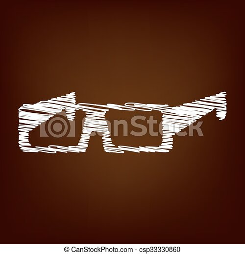 Scrible icon on the brown background - csp33330860