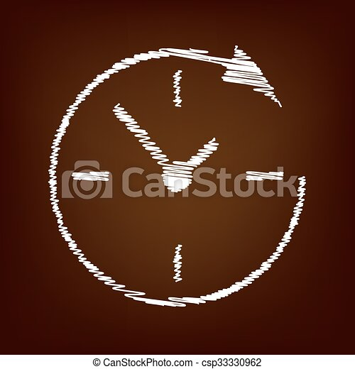 Scrible icon on the brown background - csp33330962
